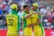 Wicket - Marcus Stoinis of Australia celebrates taking the wicket of Najibullah Zadran of Afghanistan during the ICC Cricket World Cup 2019 match between Afghanistan and Australia at the Bristol County Ground, Bristol, United Kingdom on 1 June 2019.