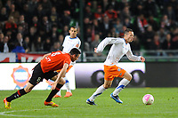 FOOTBALL - FRENCH CHAMPIONSHIP 2011/2012 - L1 - STADE RENNAIS v MONTPELLIER HSC - 7/05/2012 - PHOTO PASCAL ALLEE / DPPI - JAMEL SAIHI (MONT) / JULIEN FERET (REN)