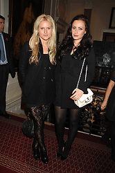 Left to right, OLYMPIA SCARRY and CAMILLA AL FAYED at an action of art donated by leading artists sponsored by De'Longhi in aid of Macmillan Cancer Support held at the Arts Club, Dover Street, London on 8th November 2007.<br />