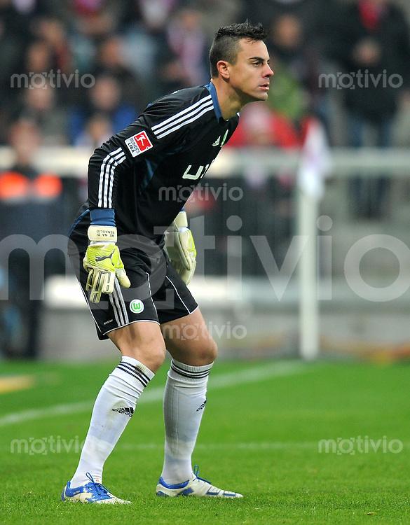 FUSSBALL   1. BUNDESLIGA  SAISON 2011/2012   19. Spieltag FC Bayern Muenchen - VfL Wolfsburg      28.01.2012 Torwart Diego Benaglio (VfL Wolfsburg)