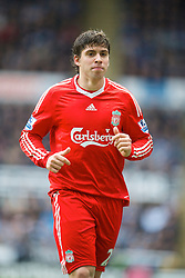 NEWCASTLE, ENGLAND - Sunday, December 28, 2008: Liverpool's Emiliano Insua against Newcastle United during the Premiership match at St James' Park. (Photo by David Rawcliffe/Propaganda)