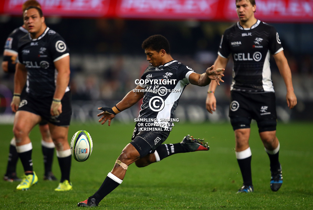DURBAN, SOUTH AFRICA - JULY 15: Garth April of the Cell C Sharks during the Super Rugby match between the Cell C Sharks and Sunwolves at Growthpoint Kings Park on July 15, 2016 in Durban, South Africa. (Photo by Steve Haag/Gallo Images)