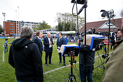 Bristol Rugby Director of Rugby Andy Robinson is interviewed by Sky Sports after Bristol win the match 16-45 to take a 29 point lead into the 2nd leg at Ashton Gate - Mandatory byline: Rogan Thomson/JMP - 01/05/2016 - RUGBY UNION - Goldington Road - Bedford, England - Bedford Blues v Bristol Rugby - Greene King IPA Championship Play Off Semi Final 1st Leg.