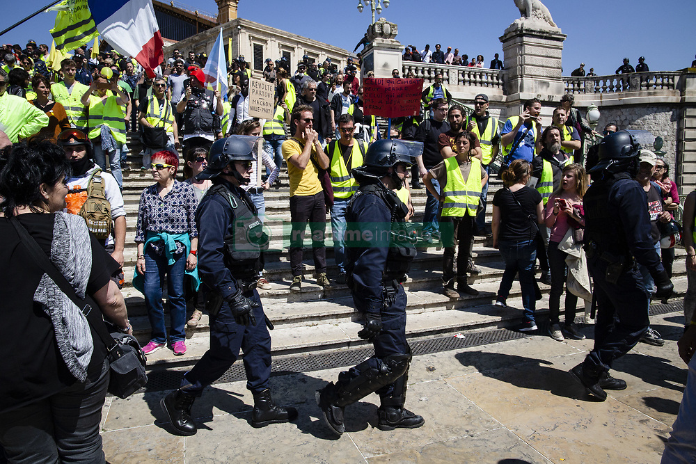 May 1, 2019 - Marseille, France - Thousands of people took to the streets in  Marseille, France, on 1st May 2019 during annual march for the International Labour Day. (Credit Image: © Rita Franca/NurPhoto via ZUMA Press)