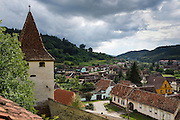 Biertan is one of the most important Saxon villages with fortified churches in Transylvania, having been on the list of UNESCO World Heritage Sites since 1993. View of the village from the church's towers. The Biertan fortified church was the see of the Lutheran Evangelical Bishop in Transylvania between 1572 and 1867. Constructed between 1486 and 1524 the church is built in Late Gothic style with Renaissance touches.