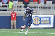 Mississippi Rebels place kicker Gary Wunderlich (97) vs. Louisiana-Lafayette at Vaught-Hemingway Stadium in Oxford, Miss. on Saturday, September 13, 2014. Ole Miss won 56-15 to improve to 3-0.