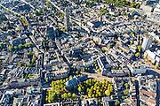 Nederland, Utrecht, Gemeente Utrecht, 30-09-2015; de Utrechtse binnenstad, Janskerkhof en Neude (rechts), Domtoren en Domkerk in de achtergrond.v<br /> Downtown Utrecht and city centre.<br /> luchtfoto (toeslag op standard tarieven);<br /> aerial photo (additional fee required);<br /> copyright foto/photo Siebe Swart