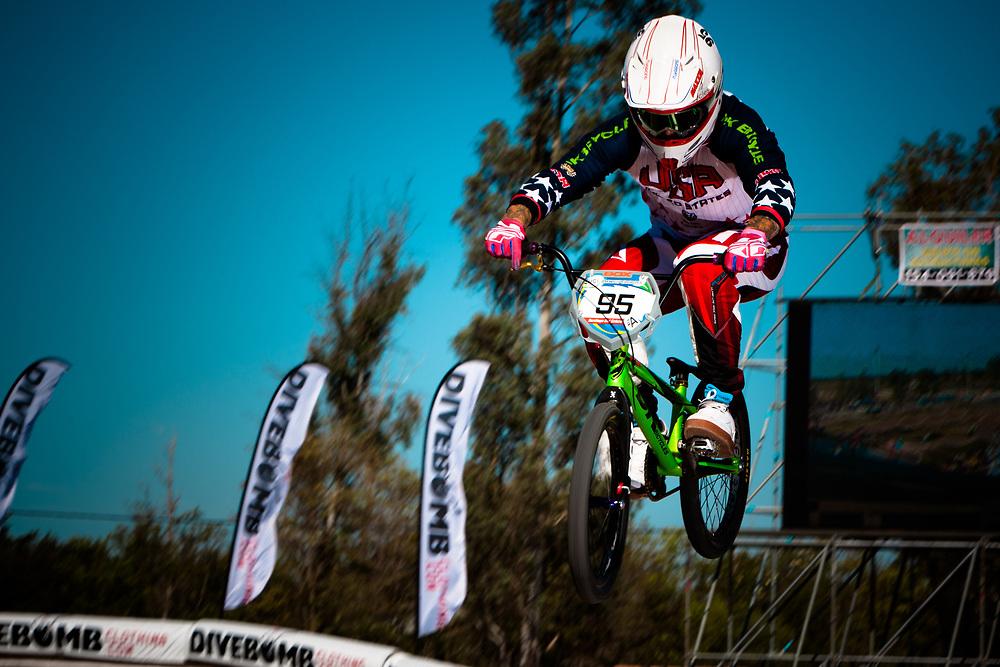 # 95 (NOBLES Barry) USA at the UCI BMX Supercross World Cup in Santiago del Estero, Argintina.