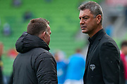 MELBOURNE, VIC - NOVEMBER 09: Wellington Phoenix head coach Mark Rudan during warm up at the Hyundai A-League Round 4 soccer match between Melbourne City FC and Wellington Phoenix on November 09, 2018 at AAMI Park in Melbourne, Australia. (Photo by Speed Media/Icon Sportswire)