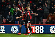 AFC Bournemouth Players Celebrate after AFC Bournemouth Forward, Callum Wilson (13) scores a goal to make it 1-0 during the Premier League match between Bournemouth and West Ham United at the Vitality Stadium, Bournemouth, England on 19 January 2019.