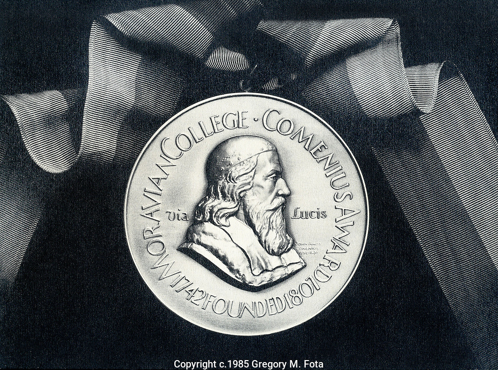 Moravian College Comenius Award Medal--used in promotional/advertising brochure.