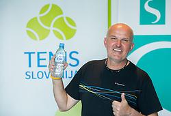 Sašo Svoljšak; Zavarovalnica Sava državno veteransko prvenstvo Slovenije v tenisu, on April 1, 2017 in Millenium center, BTC, Ljubljana, Slovenia. Photo by Vid Ponikvar / Sportida