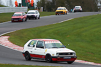 #57 Chris WEBB VW Golf GTi Mk2 during Teekay Couplings Mk2 Production Gti Championship - Race 4  as part of the BRSCC Oulton Park Season Opener at Oulton Park, Little Budworth, Cheshire, United Kingdom. April 09 2016. World Copyright Peter Taylor/PSP. Copy of publication required for printed pictures.  Every used picture is fee-liable. http://archive.petertaylor-photographic.co.uk