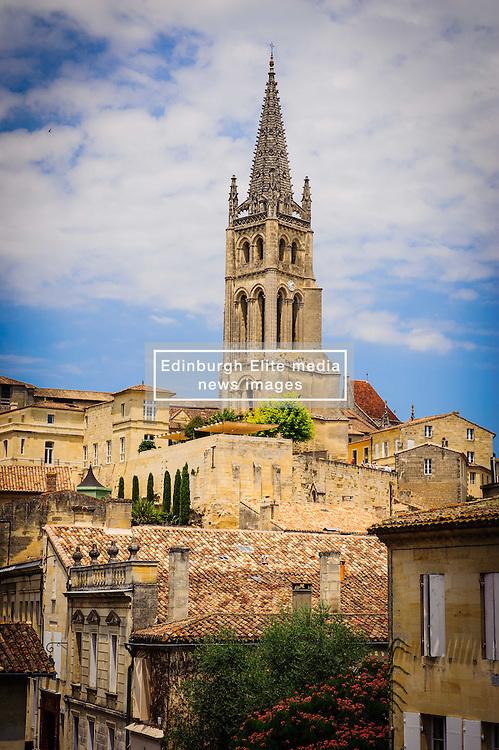 The cathedral dominates the skyline in Saint Emilion, France<br /> <br /> (c) Andrew Wilson   Edinburgh Elite media