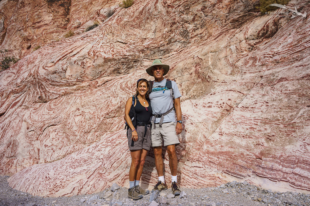 Howard Hall and Michele Hall, hIking at Red Rock Canyon near Las Vegas, Nevada