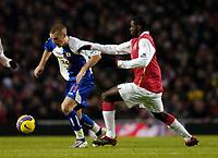 Photo: Olly Greenwood.<br />Arsenal v Blackburn Rovers. The Barclays Premiership. 23/12/2006. Blackburn's David Bentley goes past Arsenal's Kolo Toure