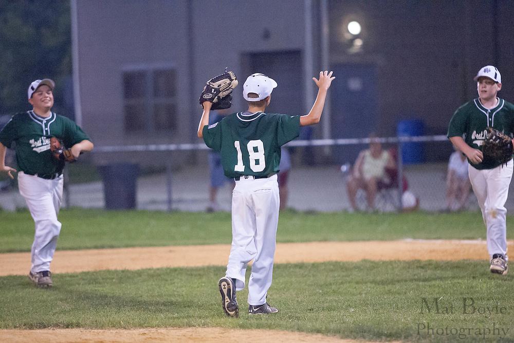 West Deptford's Jake Kauler celebrates after defeating National Park during a District 15 Little League 11 year old all-star game held in Deptford Friday July 22, 2011.