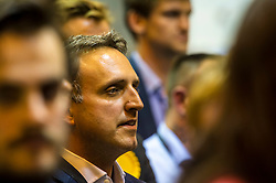 Pictured: Alex Cole-Hamilton was there to back his Lib Dem colleagues<br /> The Edinburgh Count and  announcements ended  around 4:30 this morning with weary heads around all parties.<br /> <br /> Ger Harley   EEm 9 June 2017