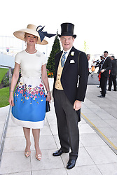 The Earl & Countess Of Derby at the 2d day of The Investec Derby Festival - Derby Day, Epsom Racecourse, Epsom, Surrey, UK. 01 June 2019.