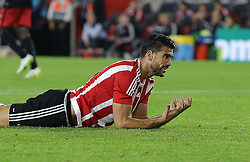 Graziano Pelle of Southampton reacts after missing a goal scoring opportunity - Mandatory byline: Paul Terry/JMP - 07966386802 - 20/08/2015 - FOOTBALL - ST Marys Stadium -Southampton,England - Southampton v FC Midtjylland - EUROPA League Play-Off Round
