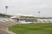The Rod Bransgrove Pavillion ahead of the Specsavers County Champ Div 1 match between Hampshire County Cricket Club and Middlesex County Cricket Club at the Ageas Bowl, Southampton, United Kingdom on 14 April 2017. Photo by David Vokes.