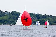 _V0A8087. ©2014 Chip Riegel / www.chipriegel.com. The 2014 Bullseye Class National Regatta, Fishers Island, NY, USA, 07/19/2014. The Bullseye is a Nathaniel Herreshoff designed 15' Marconi rig sailing boat.