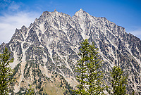 Mount Stuart  in the Washington State Cascade Mountains as seen from near Longs Pass.