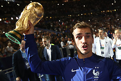 September 9, 2018 - Paris, 93, France - Antoine Griezmann of France celebrates with the World Cup Trophy after the UEFA Nations League A group official match between France and Netherlands at Stade de France on September 9, 2018 in Paris, France. This is the first match of the French football team at the Stade de France since their victory in the final of the World Cup in Russia. (Credit Image: © Mehdi Taamallah/NurPhoto/ZUMA Press)