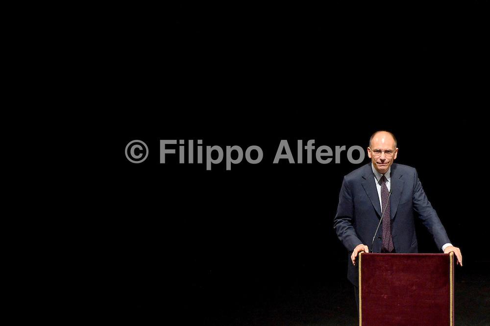 Filippo Alfero, Torino, 13.09.2013, Teatro Regio, 47a Settimana Sociale Cattolici Italiani, nella foto: Enrico Letta