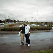 'Married couple, Gretna, 2013' from 'A Fine Line - Exploring Scotland's Border with England' by Colin McPherson.<br /> <br /> A couple returning to Gretna one year on from their marriage. Gretna has long been a popular destination for people getting married, which dates back to an era when the age of majority was different south of the border.<br /> <br /> The project was a one-year exploration of the border between the two historic nations, as seen from the Scottish side of the frontier.<br /> <br /> Colin McPherson is a photographer and visual artist based in north west England. In 2012 he was one of the founding members of Document Scotland, a collective of four Scottish documentary photographers brought together by a common vision to witness and photograph the important and diverse stories within Scotland at one of the most important times in our nation's history.<br /> <br /> 'A Fine Line' will be shown for the first time in public at Impressions Gallery, Bradford, from July 1 until September 27, 2014 to coincide with the Scottish Independence referendum.