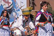 Zuni Pueblo dancers performing a deer dance, Pueblo Indian Cultural Center, Albuquerque, New Mexico