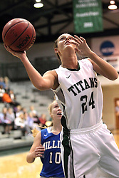 15 January 2014:  Emily Beoletto during an NCAA women's division 3 basketball game between the Millikin Big Blue and the Illinois Wesleyan Titans in Shirk Center, Bloomington IL