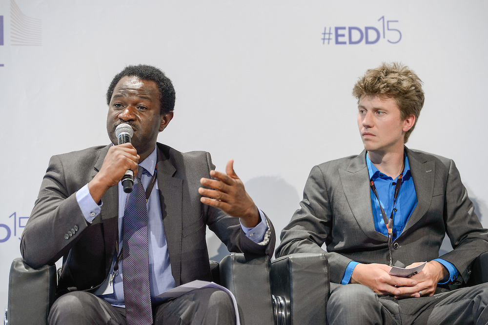 04 June 2015 - Belgium - Brussels - European Development Days - EDD - Jobs - Growing agriculture , growing jobs - The private sector on the spot - Akin Sawyerr ,<br /> Executive Secretary, Agricultural Fresh Produce Growers and Exporters Association of Nigeria (AFGEAN) © European Union