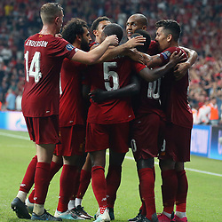 Liverpool players celebrates for Sadio Mane ' s goal during the UEFA SUPERCUP match between Liverpool and Chelsea at Vodafone Park in Istanbul , Turkey on August 14 , 2019. <br /> Photo : Seskimphoto / Icon Sport