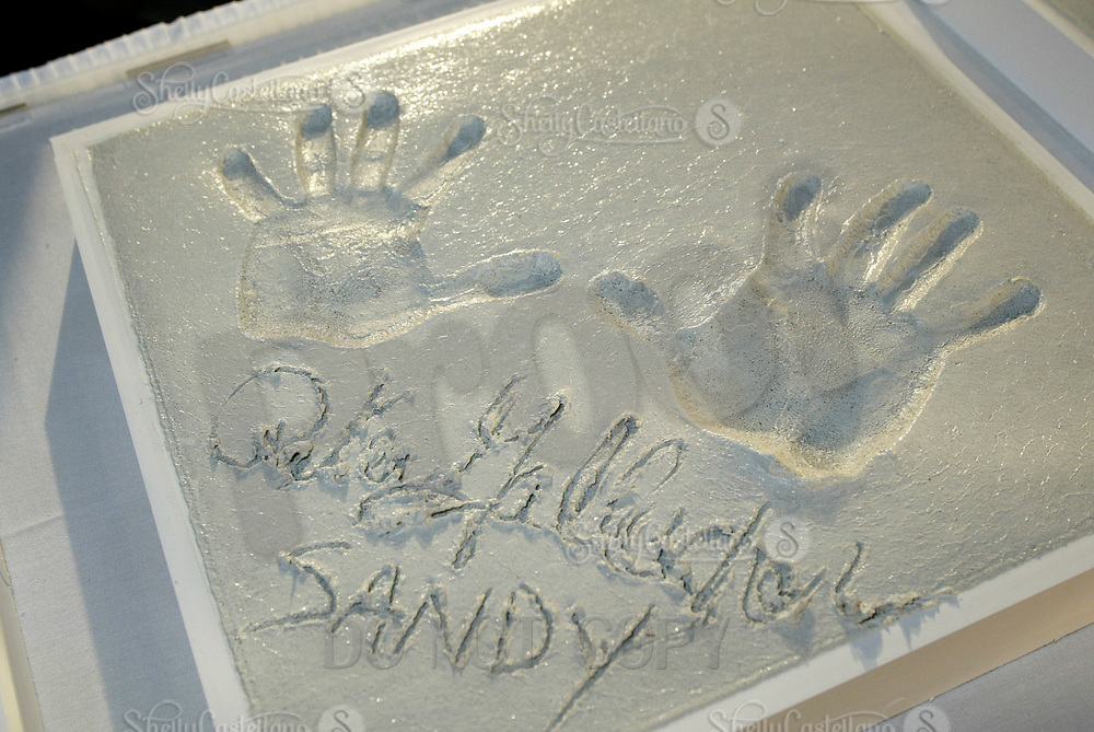Oct 28, 2004; Newport Beach, CA, USA; Cast Member PETER GALLAGHER who plays Sandy Choen on the FOX hit TV show 'The OC' visited the Balboa Penninsula in Newport Beach to get a Key to the City and be immortalized in cement with thier hand prints to be placed at the enterance to the Historic Balboa Pavillion. Peter's hand print and signature in cement.  Mandatory Credit: Photo by Shelly Castellano/ZUMA Press.