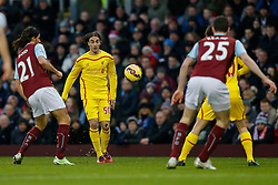 Lazar Markovic of Liverpool chips in a cross - Photo mandatory by-line: Rogan Thomson/JMP - 07966 386802 - 26/12/2014 - SPORT - FOOTBALL - Burnley, England - Turf Moor Stadium - Burnley v Liverpool - Boxing Day Christmas Football - Barclays Premier League.