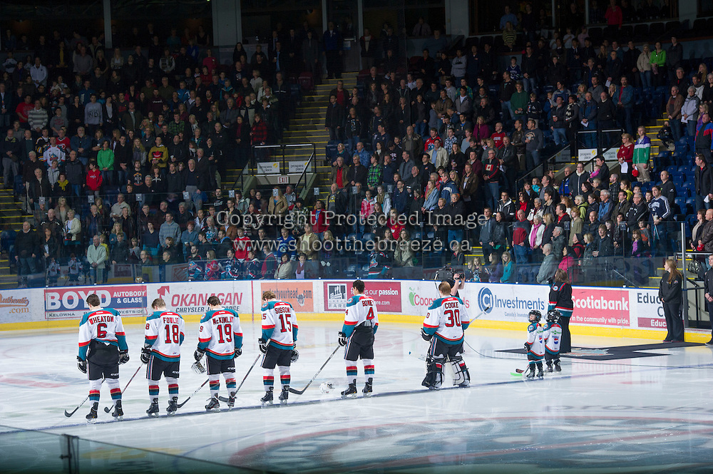 KELOWNA, CANADA - DECEMBER 30:   Everett Silvertips at the Kelowna Rockets on December 30, 2012 at Prospera Place in Kelowna, British Columbia, Canada (Photo by Marissa Baecker/Shoot the Breeze) *** Local Caption ***