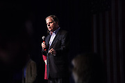 """BIRMINGHAM, AL – DECEMBER 11, 2017: On the eve of the Special General Election for Senate, democratic candidate Doug Jones addresses the crowd at a """"get out the vote"""" rally.  CREDIT: Bob Miller for The New York Times"""