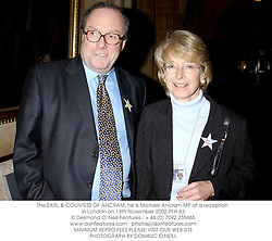 The EARL & COUNTESS OF ANCRAM, he is Michael Ancram MP at a reception in London on 13th November 2002.PFH 83
