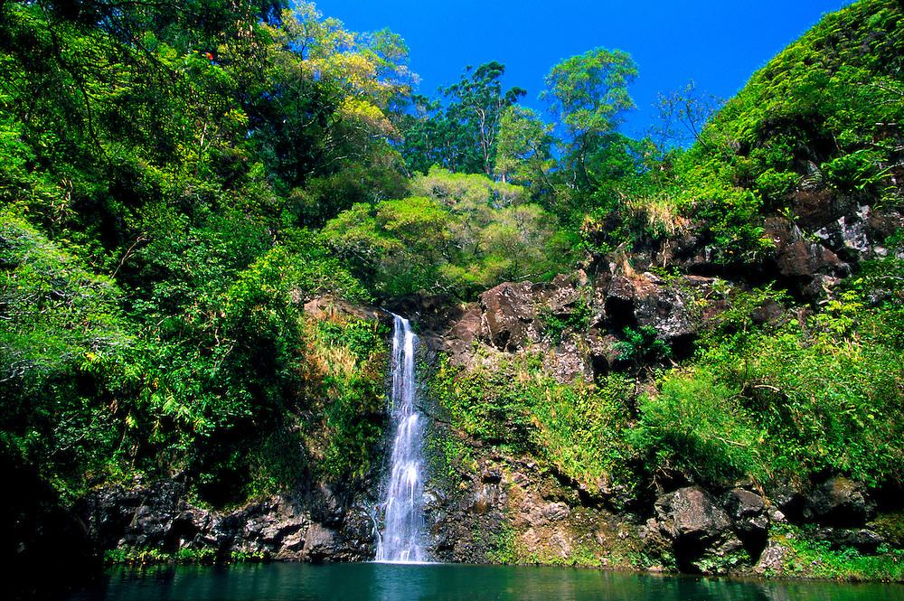 Puahokamoa Falls (off the Hana Highway), Maui, Hawaii USA