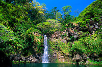 Puahokamoa Falls (off the Hana Highway), Maui, Hawaii USA