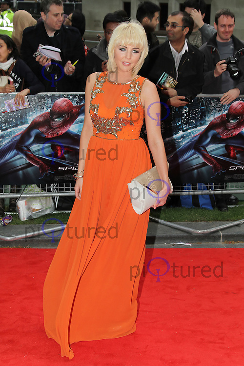 LONDON - JUNE 18: Lydia Bright attends the Gala Premiere of 'The Amazing Spider-Man', Leicester Square Gardens, London, UK. June 18, 2012. (Photo by Richard Goldschmidt)