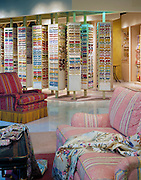 Commercial, interior, retail,  fabric, store, warm, relaxed, expensive, style