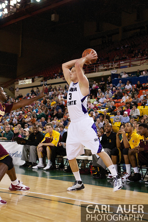 November 26th, 2010:  Anchorage, Alaska - Weber State forward Kyle Bullinger (3) looks for a pass in the Wildcats 58-59 loss to Arizona State at the Great Alaska Shootout.