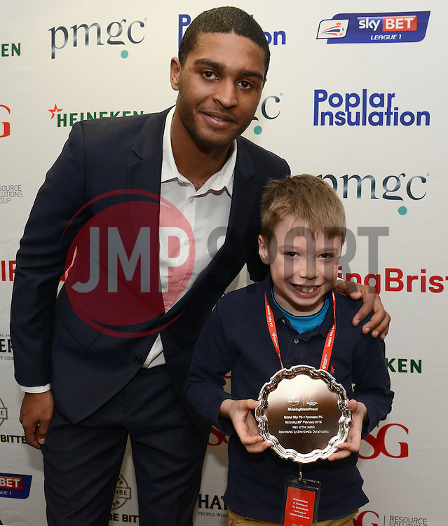 Man of the Match presentation - Photo mandatory by-line: Dougie Allward/JMP - Mobile: 07966 386802 - 28/02/2015 - SPORT - football - Bristol - Ashton Gate - Bristol City v Rochdale AFC - Sky Bet League One