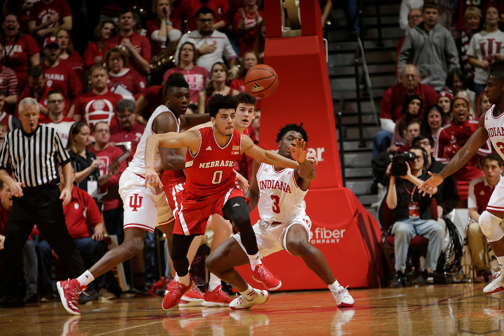 Nebraska guard Tai Webster (0) in action as Nebraska played Indiana in an NCCA college basketball game in Bloomington, Ind., Wednesday, Dec. 28, 2016. (AJ Mast via AP Images)