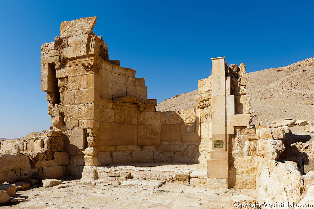 The Praetorium (The Temple of the Signa) Palmyra, Syria. Ancient city in the desert that fell into disuse after the 16th century.