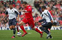 Photo: Andrew Unwin.<br />Middlesbrough v West Ham United. The Barclays Premiership. 17/04/2006.<br />Middlesbrough's Mark Viduka (C) attacks.
