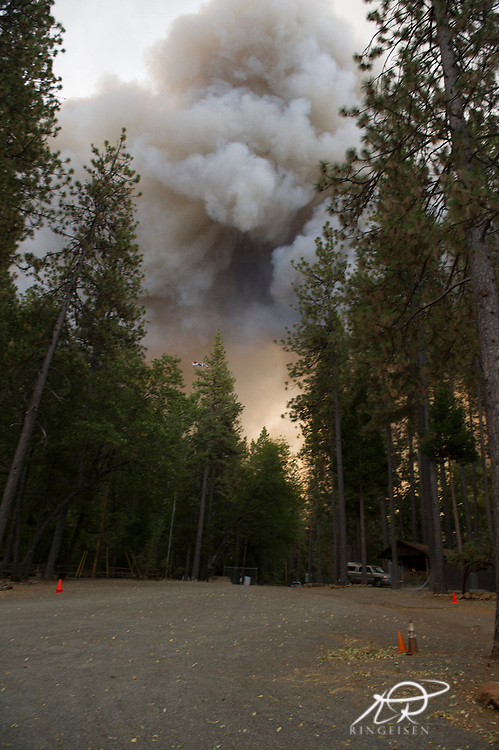 September 12, 2015 - Lake County, California, The fire, now at Hoberg's Resort has started to enter the west side of the property. The resort was lost as flames raced across the property.(Kim Ringeisen / Polaris)