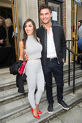© Licensed to London News Pictures. 17/09/2016.  JANETTE MANRARA and ALJAZ SKORJANEC arrive for the JULIEN MACDONALD Spring/Summer 2017 show. Models, buyers, celebrities and the stylish descend upon London Fashion Week for the Spring/Summer 2017 clothes collection shows. London, UK. Photo credit: Ray Tang/LNP